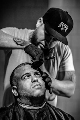"""Backpack Barber""Photo by Michael Pollak"
