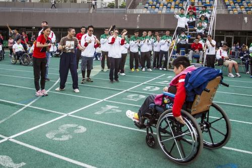 """Wheelchair Competition"" Photo by Pui Tsui"