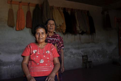 """Marcelina, Her Mother, and Her Ropa Tipica"" Photo by John Benjamin"