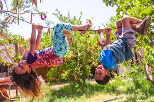 """Children of the Bedouin Communities of the Red Khan"" Photo by Ayat Arqway"